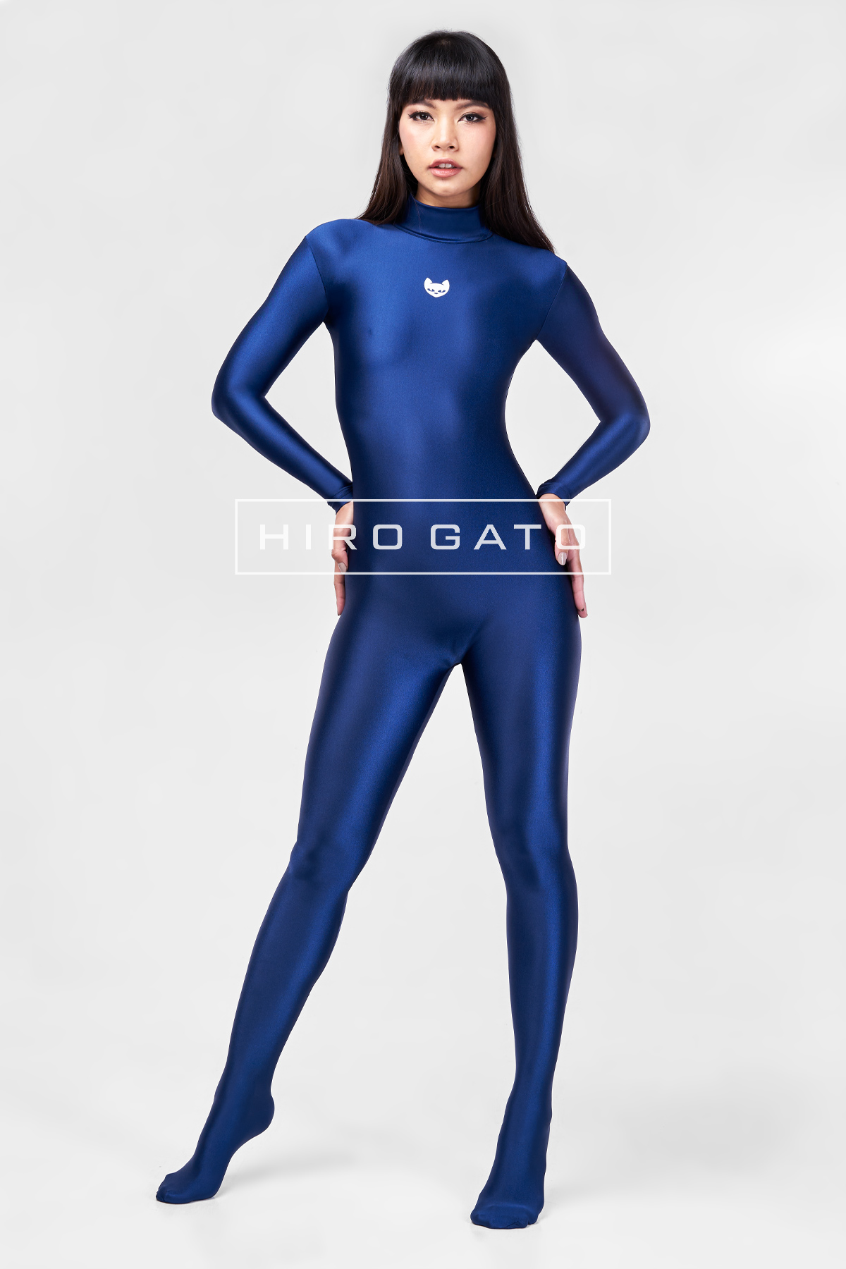 Spandex Catsuit Navy Blue