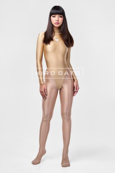 Spandex Leotard Gold