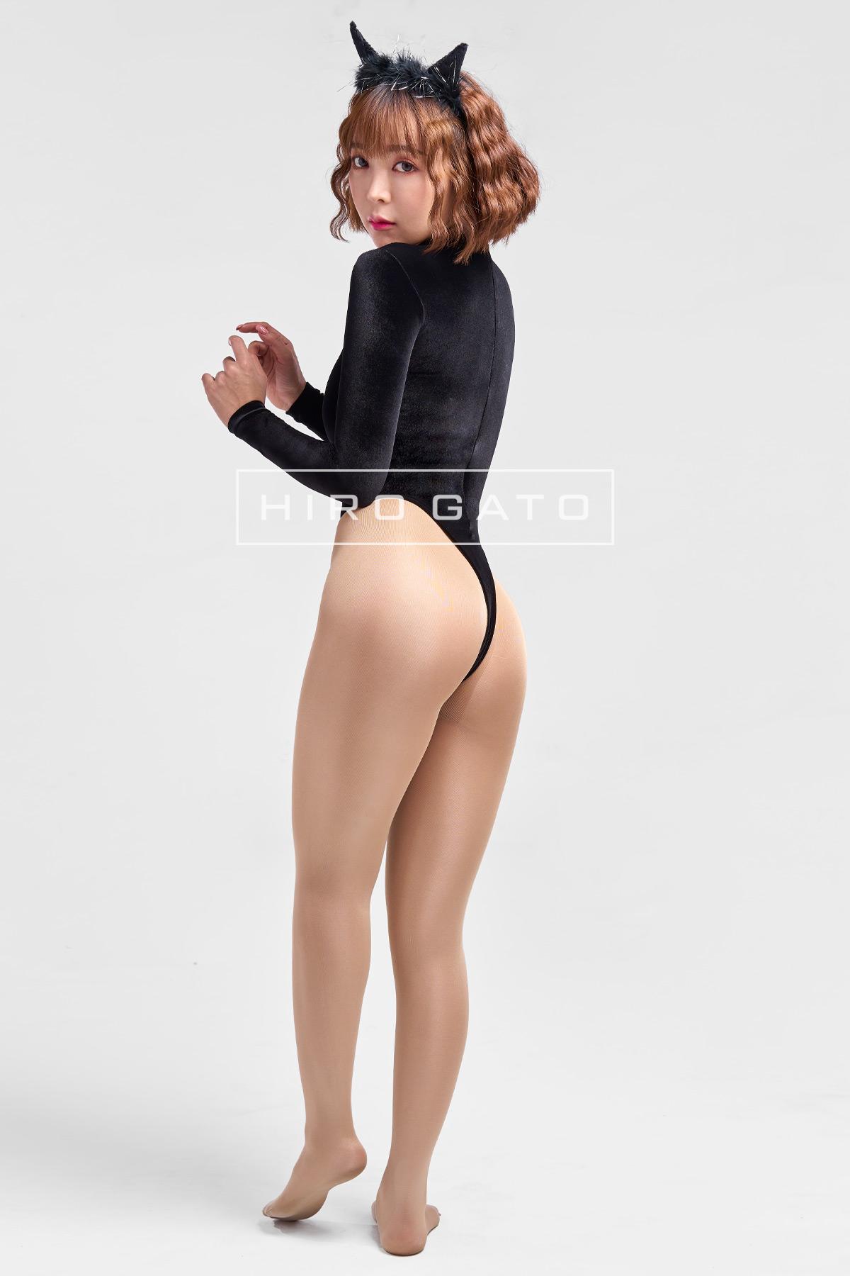 Shiny Velvet Leotard Black High Leg Spandex Lycra Body Swimsuit