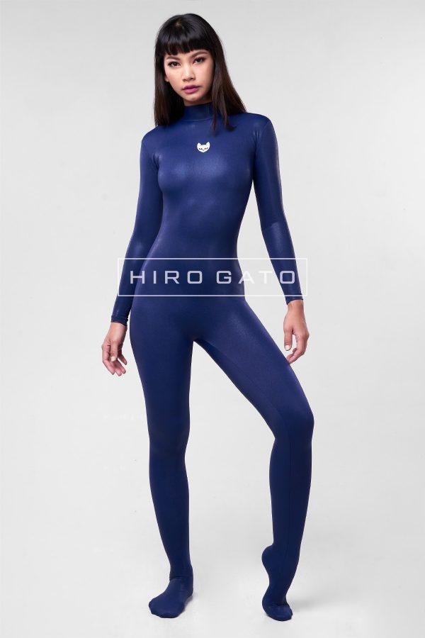 Mystique Spandex Catsuit Navy Blue