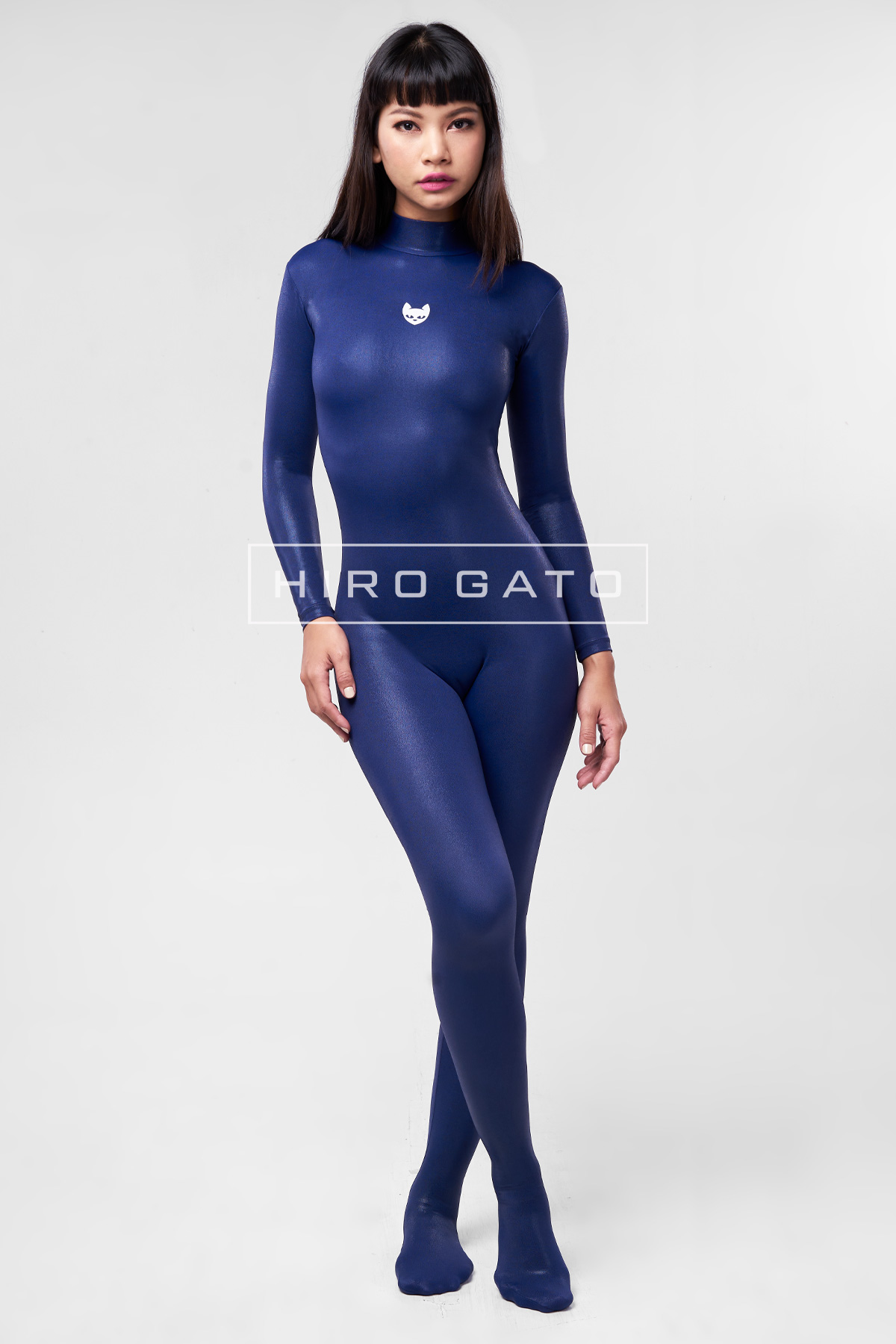 Mystique Spandex Catsuit Navy Blue Zentai