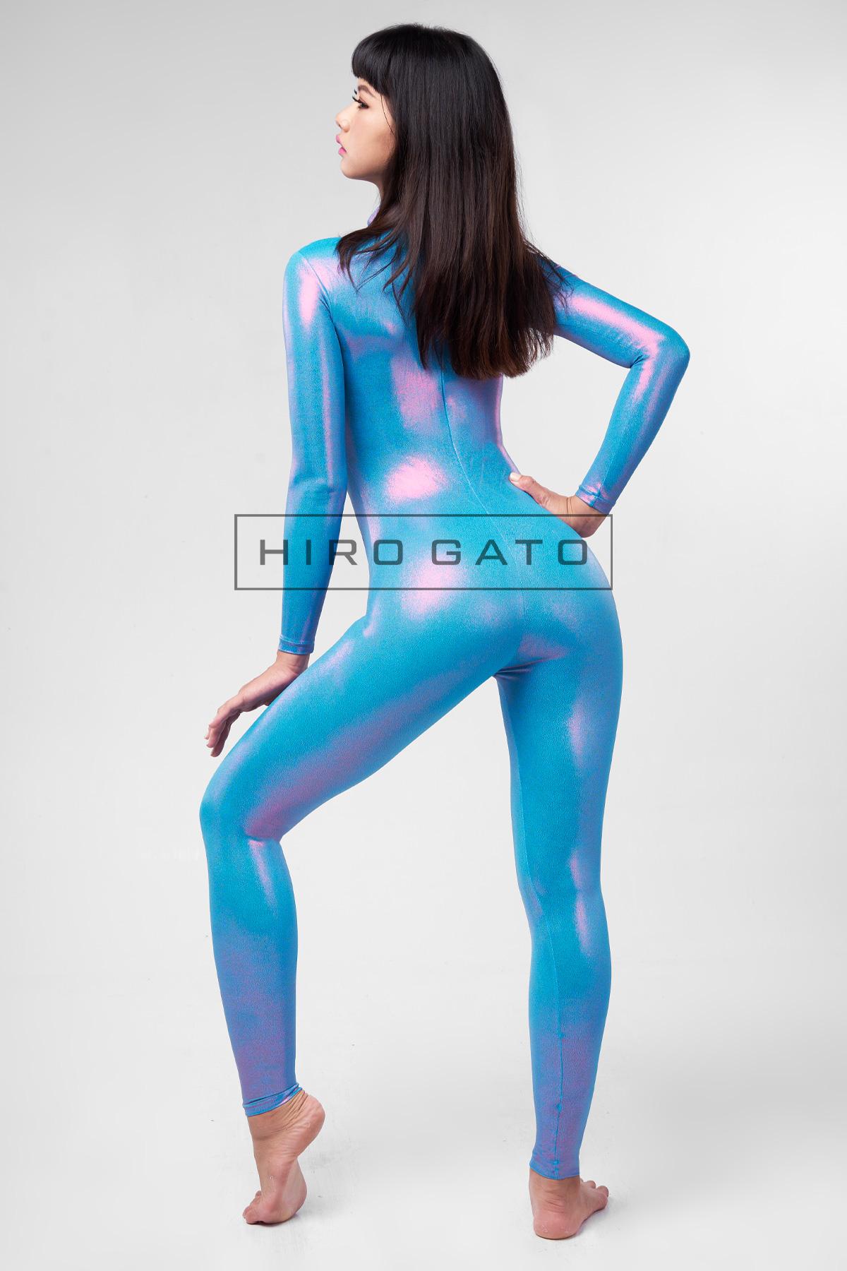 Mystique Spandex Catsuit Blau