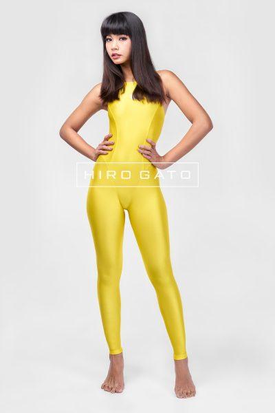 Spandex unitard Yellow