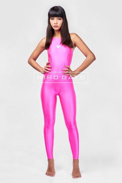 Spandex Unitard Pink