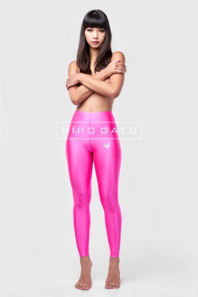 Shiny Lycra Leggings Pink