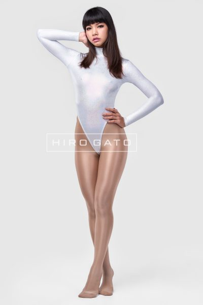 Spandex Leotard White