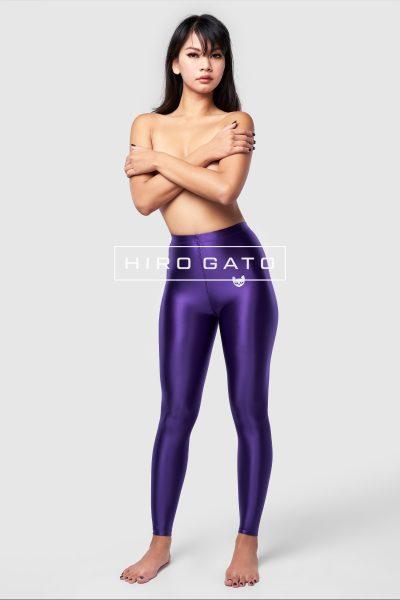 Satin Lycra Leggings Purple