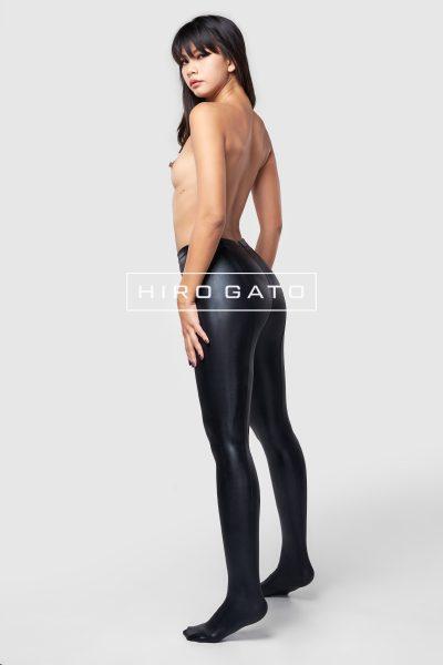 Metallic Lycra Leggings Black